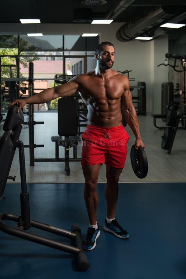 Closeup Bodybuilder Man Working Out Stock Photo 231828442