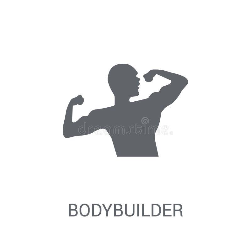 Bodybuilder ikona  royalty ilustracja
