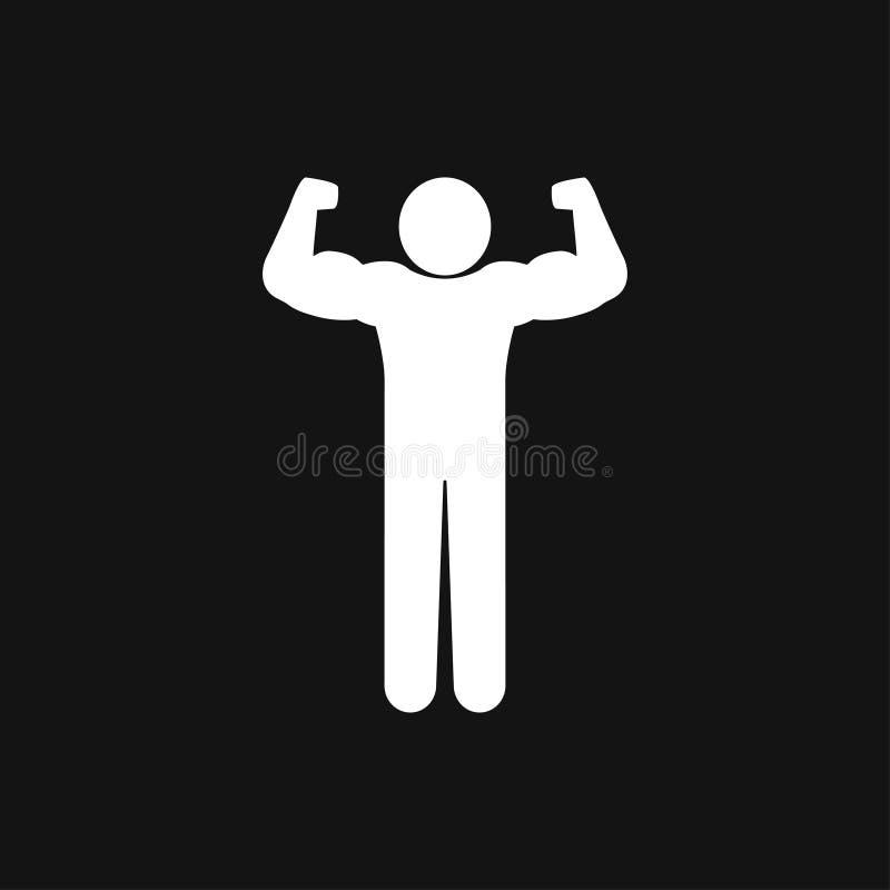 Bodybuilder ikona, mi??nia znak Wektorowa ilustracja dla sie? projekta royalty ilustracja
