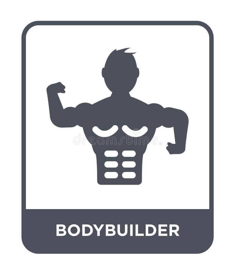 bodybuilder ikona w modnym projekta stylu bodybuilder ikona odizolowywająca na białym tle bodybuilder wektorowa ikona prosta i no ilustracja wektor