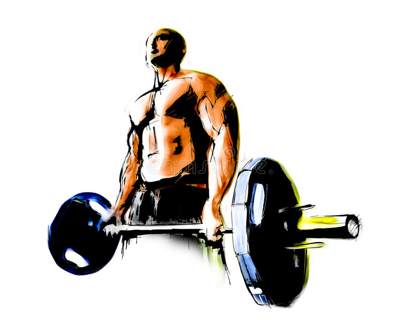 The Bodybuilder royalty free illustration