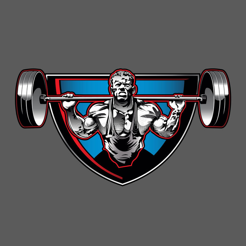 Bodybuilder illustration  stock illustration
