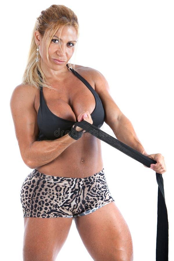 bodybuilder kobieta fotografia royalty free