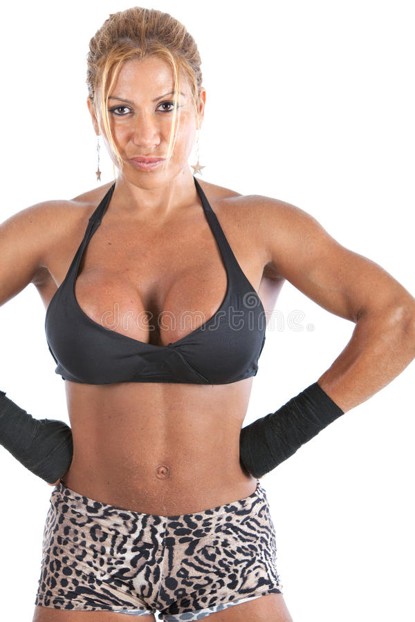 bodybuilder kobieta obraz royalty free