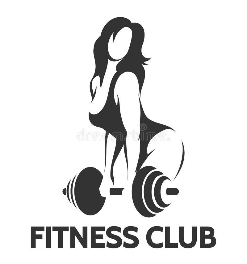 Bodybuilder kobieta z barbell ilustracji