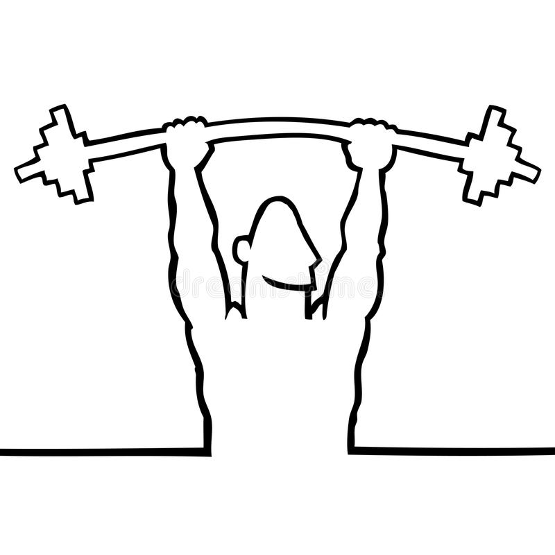 Bodybuilder lifting a barbell royalty free stock photo
