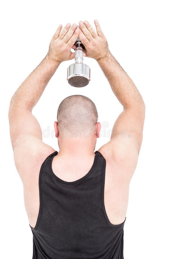 Bodybuilder lifting weights. — Stock Photo © eskymaks