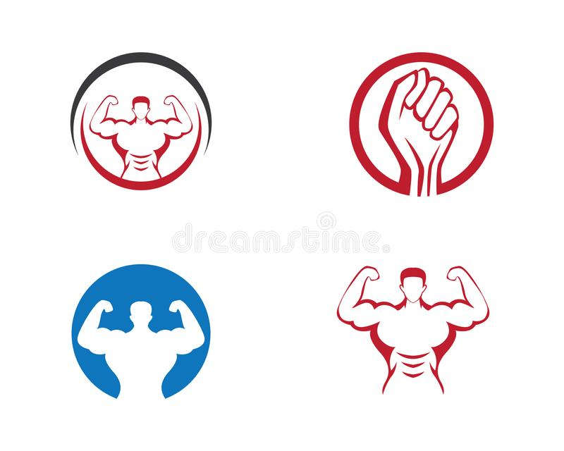 Bodybuilder Logo Template stock illustratie