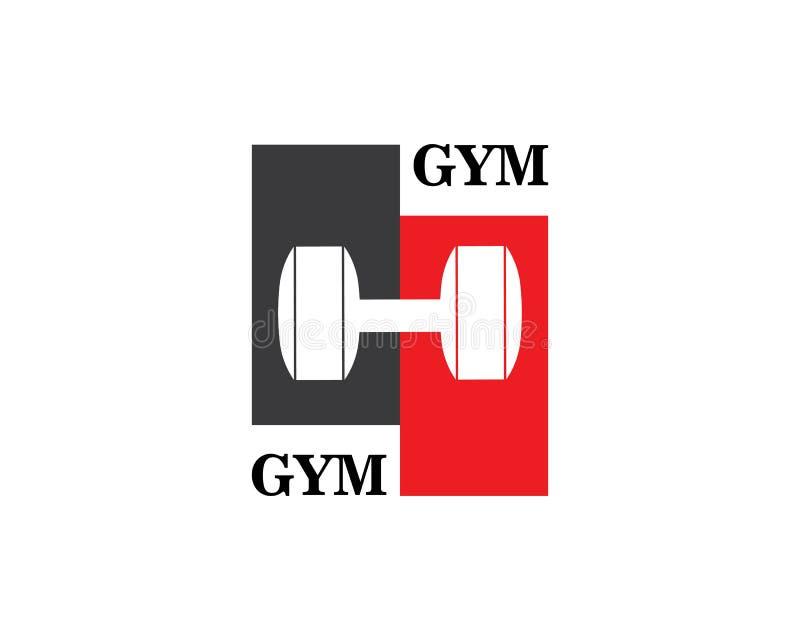 Bodybuilder Logo Template Vektor-Gegenstand und Ikonen für Sport-Aufkleber, Turnhallen-Ausweis, Eignungs-Logo lizenzfreie abbildung