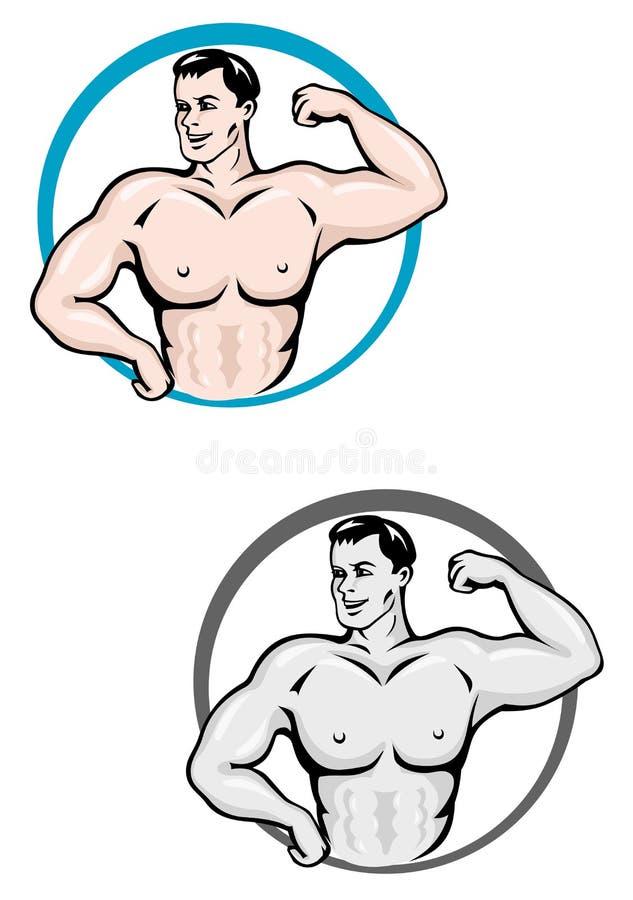 bodybuilder mężczyzna ilustracja wektor