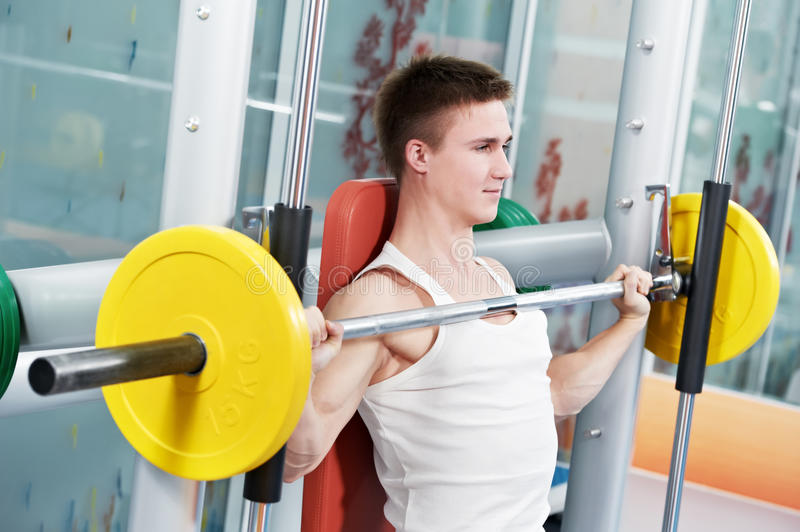 Download Bodybuilder Man Doing Biceps Muscle Exercises Stock Image - Image: 22471851
