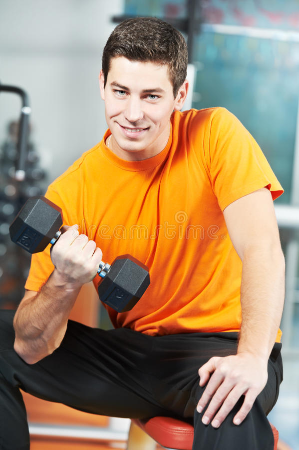Download Bodybuilder Man Doing Biceps Muscle Exercises Royalty Free Stock Photos - Image: 28960508