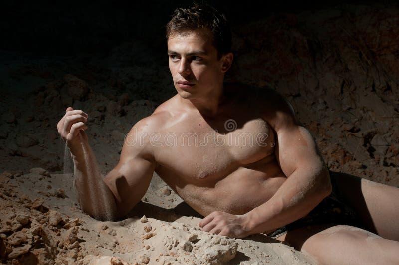 Bodybuilder maschio immagini stock libere da diritti