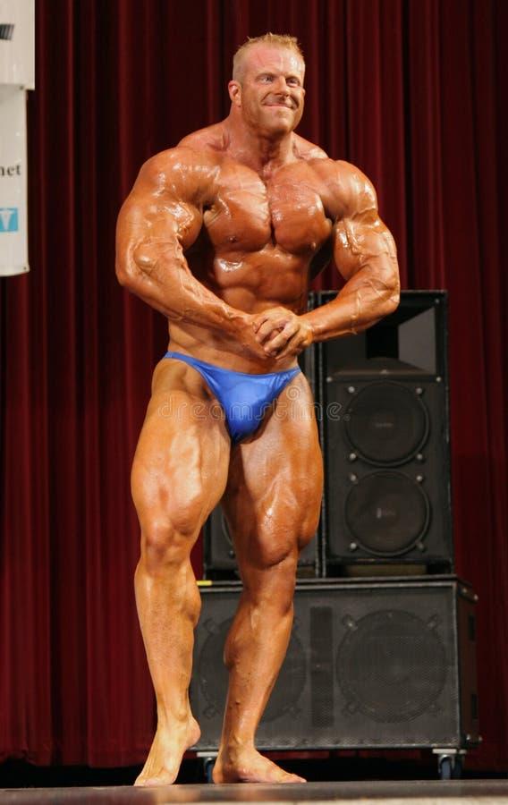 Bodybuilder maschio fotografia stock