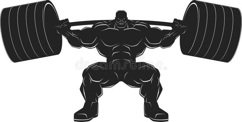 Bodybuilder mit einem Barbell vektor abbildung