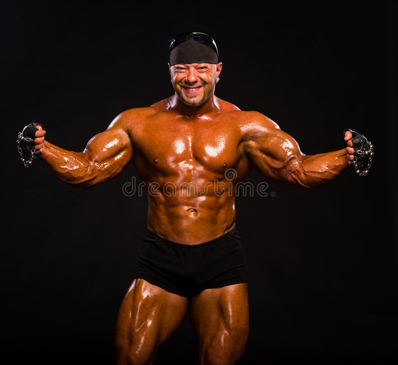 Bodybuilder musculaire beau images stock