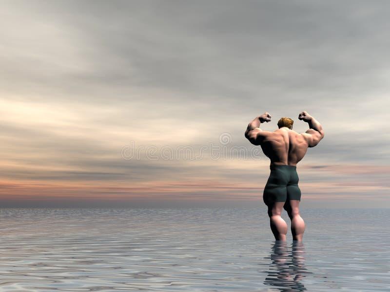 Bodybuilder Negen vector illustratie