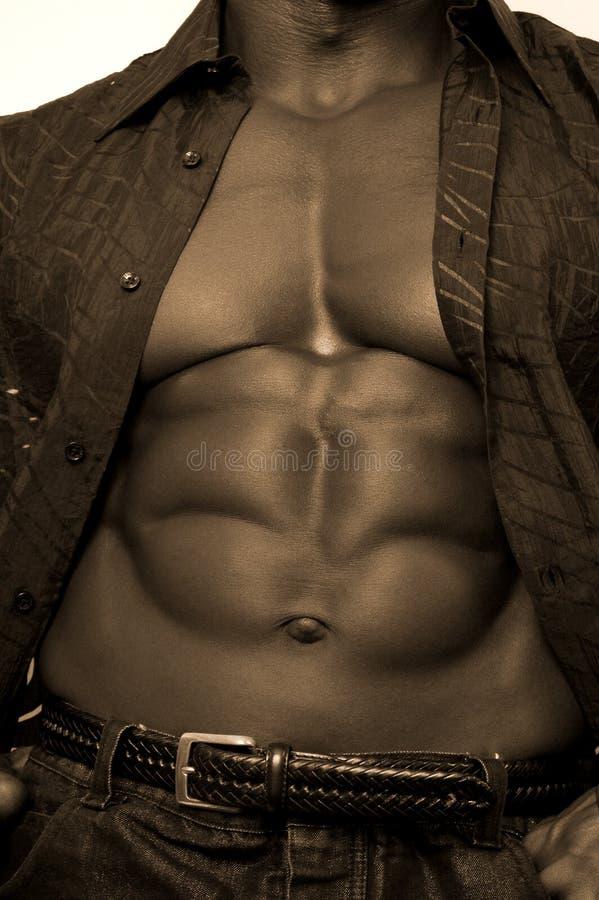Bodybuilder noir photos libres de droits