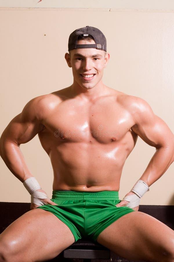 bodybuilder nowicjusza potomstwa zdjęcie royalty free