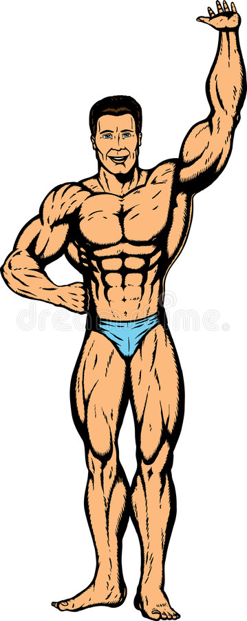 Bodybuilder Picking Something Up Over Head Royalty Free Stock Photos