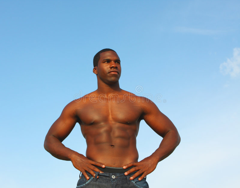 Bodybuilder Posing For The Camera royalty free stock images
