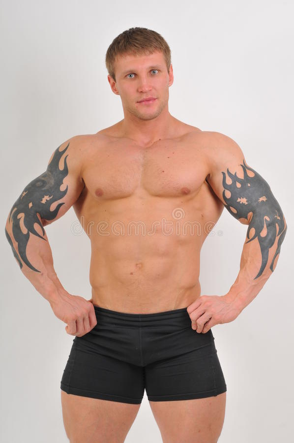 bodybuilder potomstwa fotografia royalty free