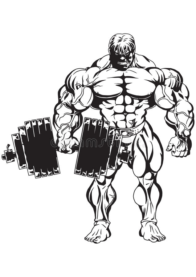 Bodybuilder royalty free illustration