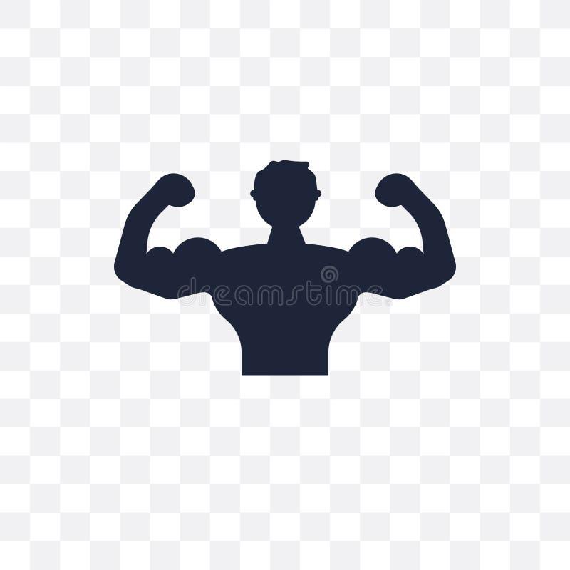 Bodybuilder przejrzysta ikona Bodybuilder symbolu projekt od Gym ilustracji