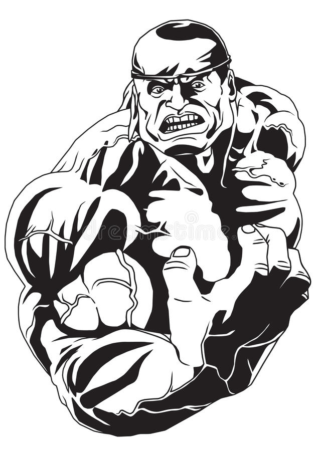 bodybuilder silny ilustracji