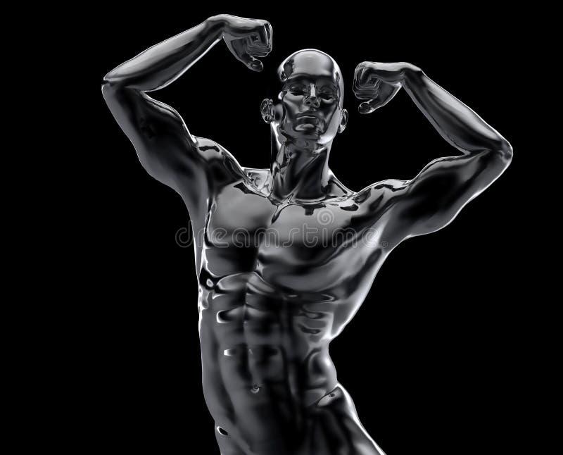 Bodybuilder statua ilustracja wektor