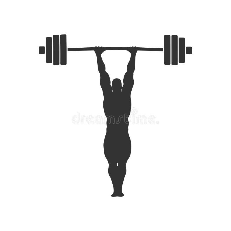 Bodybuilder sylwetki pozować ilustracja wektor