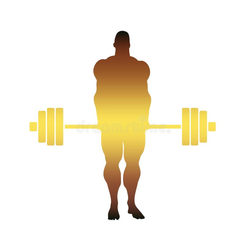 Bodybuilder sylwetki pozować royalty ilustracja