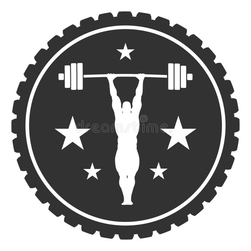 Bodybuilder sylwetki pozować ilustracji