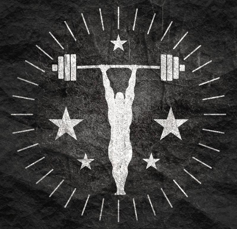 Bodybuilder sylwetki pozowa? royalty ilustracja