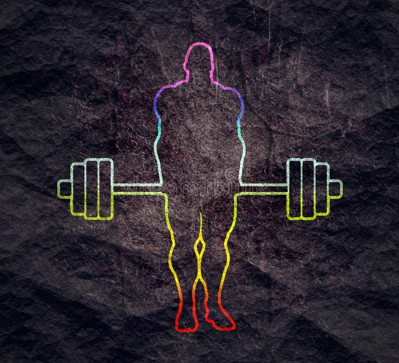 Bodybuilder sylwetki pozowa? ilustracja wektor