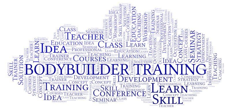 Bodybuilder szkolenia słowa chmura royalty ilustracja