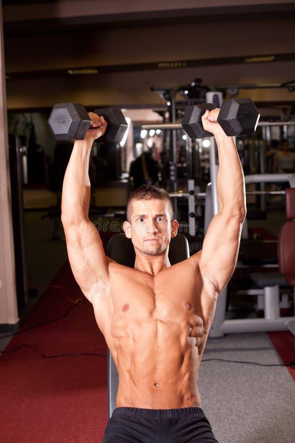 Bodybuilder szkolenie obrazy royalty free