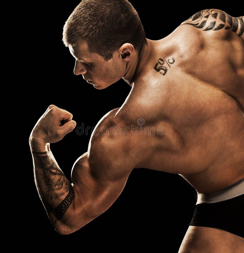bodybuilder target313_0_ Pięknego sporty faceta męska władza zdjęcia stock