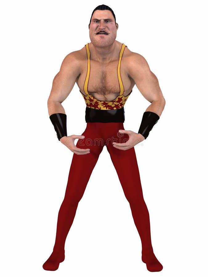 bodybuilder Toon ilustracja wektor