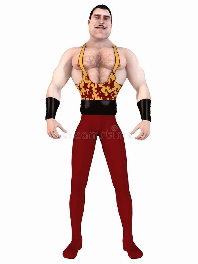 bodybuilder Toon royalty ilustracja