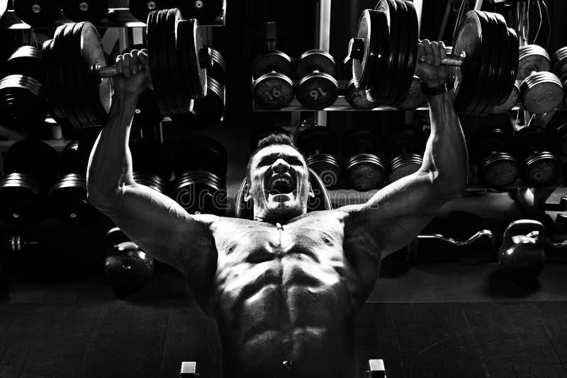 Bodybuilder w gym zdjęcie royalty free