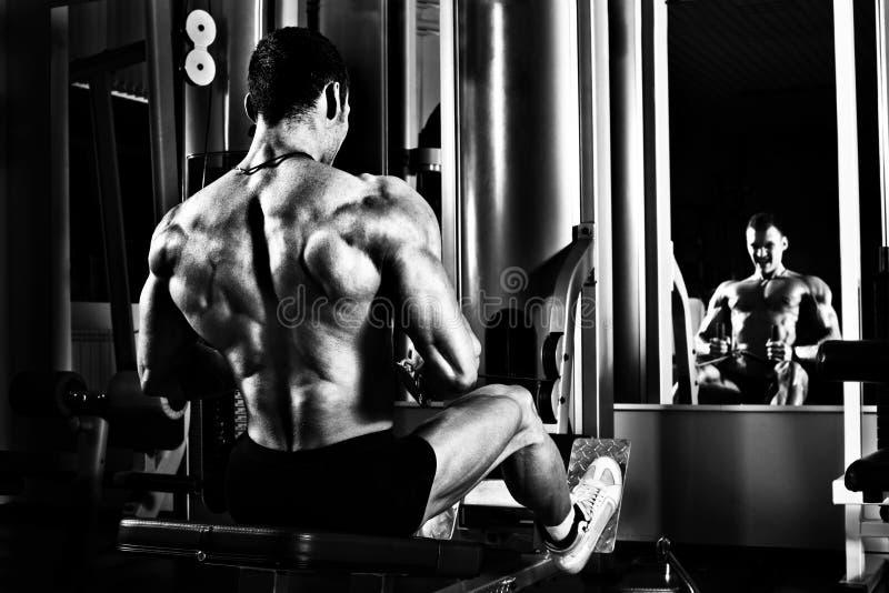 Bodybuilder w gym fotografia stock