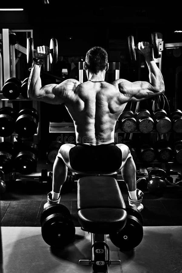 Bodybuilder w gym obrazy stock