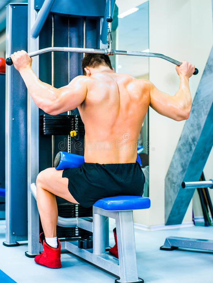 Free Bodybuilder With Simulator Stock Image - 36222571