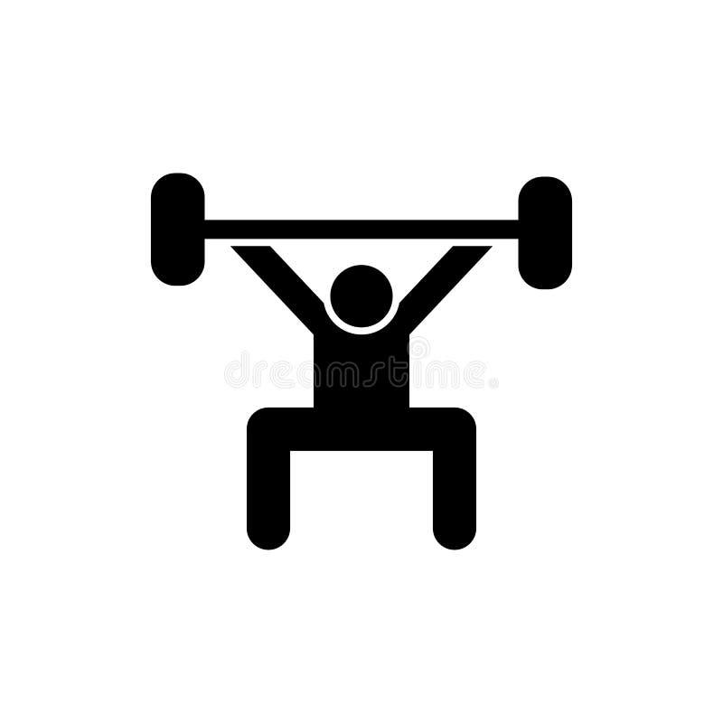 Bodybuilder, zdrowie, mężczyzna, ciężar ikona Element gym piktogram Premii ilo?ci graficznego projekta ikona znaki i symbole inka ilustracja wektor