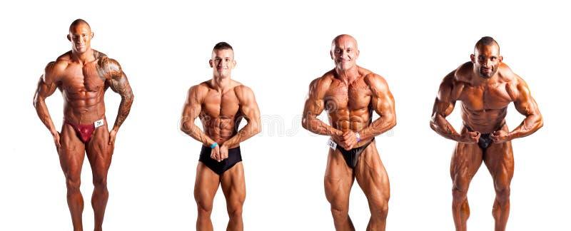 Bodybuilders het stellen stock foto's