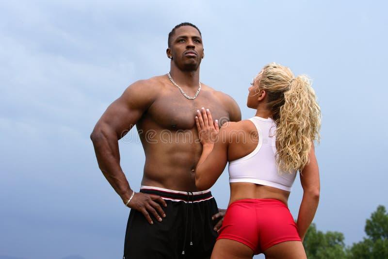 bodybuilders para obraz royalty free