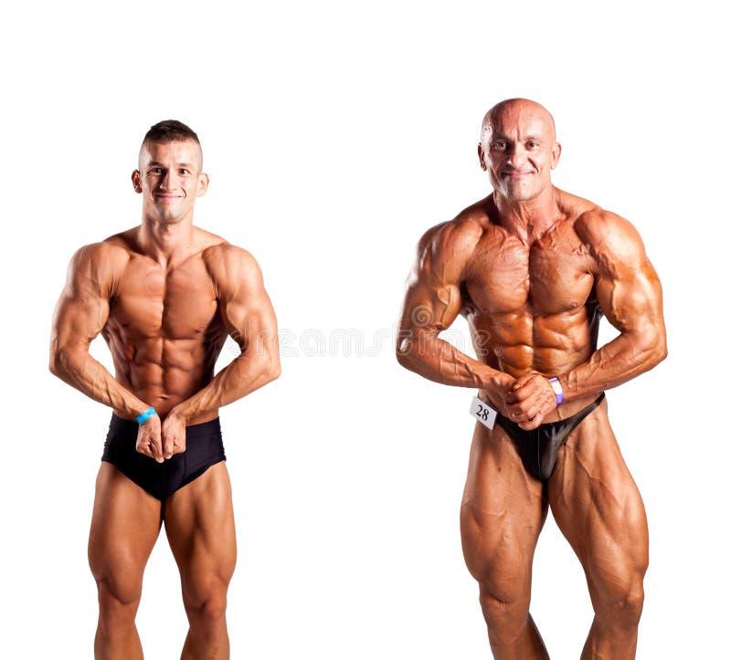 Bodybuilders pozować zdjęcia royalty free
