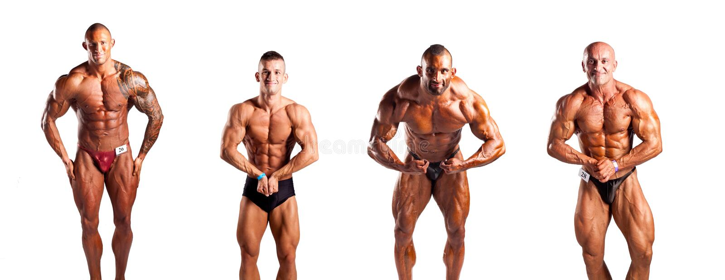 Bodybuilders pozować fotografia royalty free