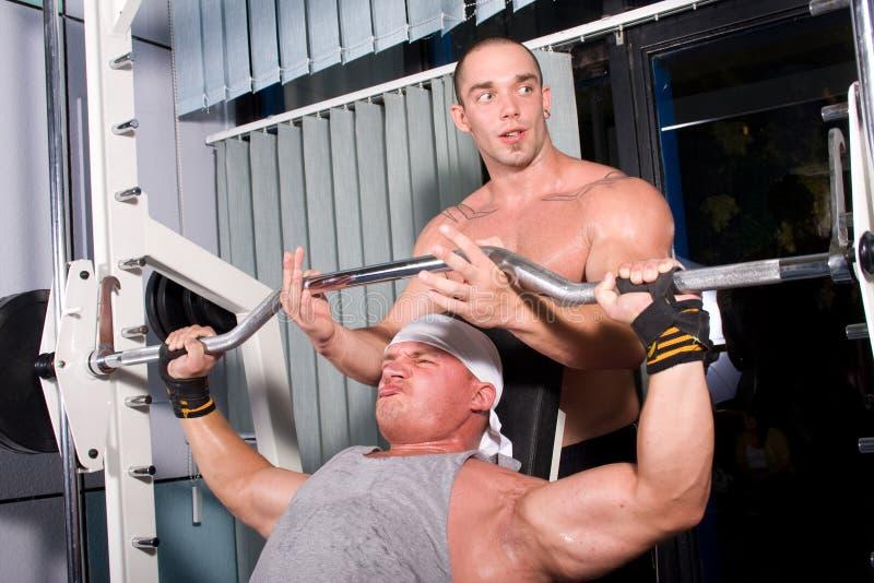 bodybuilders szkolenia fotografia stock